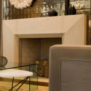 Modern White Custom Fireplace with Hearthstone by exterior remodeling company Savannah Surfaces in Hardeeville, SC